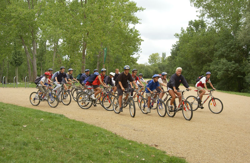 Free sport activities : VTT around the lac de maine